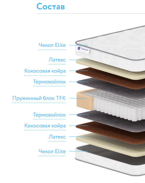 Матрас DreamLine Sleep Dream Medium TFK
