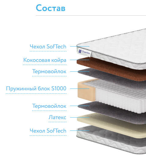Матрас DreamLine Sleep Dream S1000